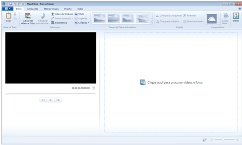 Vídeos no Windows Live Movie Maker